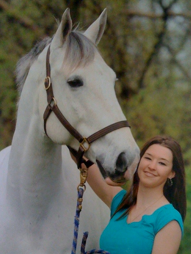 Jessica and Levioso the horse